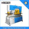 De hydraulische Ijzerbewerker Gecombineerde Machine van het Ponsen en het Scheren)