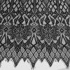 Tela grossa do laço do bordado quente do preto da venda 2018 para o vestido/vestuário
