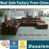 Sofa de cuir véritable de forme de la couleur U de Marnoon (301)