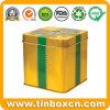 昇進のための正方形の金属のギフト用の箱、ギフトの錫ボックス