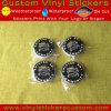 Etiqueta engomada redonda auta-adhesivo del vinilo de la marca de fábrica de encargo de la promoción Stone-017