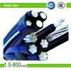 Conductor de arriba del cable aéreo ACSR para la línea de transmisión de potencia, cable del ABC