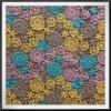 Multicolor Guipure Lace Fabric com padrão de flores