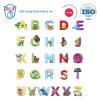 26 collants de broderie de lettrage d'alphabet avec les animaux mignons