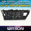 Witson Car DVD para Toyota Levin Car 2014 DVD GPS 1080P DSP Capactive Screen WiFi 3G Front DVR Camera