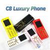듀얼-밴드 호화스러운 소형 C8 막대기 이동 전화 1.6inch 스크린 이중 SIM (C8)