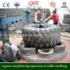 Anneau de recyclage des pneus de déchets de coupe et le flanc des pneus de la machine Machine de coupe
