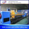 Machine de découpage de profil de pipe de commande numérique par ordinateur de plasma de pipe de tube de grand dos de fabrication de structure métallique