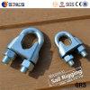 Nous type clips malléables de câble métallique de levage de Galv