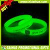 Obscurité verte faite sur commande dans le bracelet foncé de silicones (TH-band098)