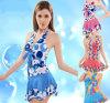As mulheres Fashion Casquilhos inteiriços, Piscina Prensa