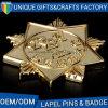 3Dカスタムロゴの鋳造の折りえりPinの真鍮のバッジPin
