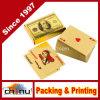 Llf Luxury 24k Gold Foil Poker Jogando cartas Deck Carta De Baralho com caixa Bom