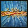 Vente en gros de peintures à l'huile abstraite sur toile fine (LH-025000)