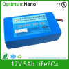 12V 5ah Deep Cycle LiFePO4 Battery für Vacuum Cleaner