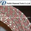 Le fil de découpage de pierre de marbre de bloc de granit de diamant de constructeur de la Chine a vu