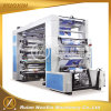 Película de plástico de 6 cores/ Papel/ Não Tecido máquina de impressão flexográfica
