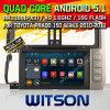 Coche DVD del sistema del androide 5.1 de Witson para Toyota Prado (W2-F9119T)