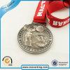 Logotipo de encargo de los deportes moneda de metal medallas con correa