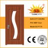 Portas comerciais usadas do toalete do PVC do vidro (SC-P179)