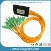 Tipo de caja de cassette de ABS Divisores de PLC de fibra óptica 1X16 con conector Sc / Upc