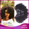 1b# Kinky Curly Virgin brasiliano Hair Clip in Hair Extension