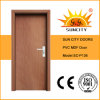 Porte affleurante simple résidentielle de PVC de forces de défense principale avec le prix bon marché (SC-P136)