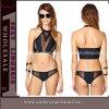 까만 섹시한 여자 고삐 바닷가 착용 비키니 수영복 (TP5029)