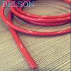 Rotes/orange/schwarzes Gummischlauch-Netzkabel