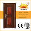 新しいモデルの正面玄関の外部の鋼鉄機密保護のドア(SC-S078)