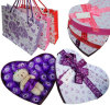 Cajas de regalo cariñosas del día de tarjeta del día de San Valentín con los bolsos fijados