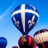 De Ballon die van de reclame de Ballon van de Hete Lucht, Grote Ballon adverteren