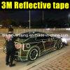 4 cinta reflexiva del coche 3m de los colores