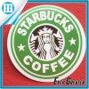 Producción en masa de la etiqueta engomada de la aduana de la escritura de la etiqueta del papel de la insignia de Starbucks