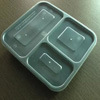 3 scompartimento Microwave Plastic Disposable Food Container con Clear Lid