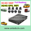 カメラ2/4/8のの移動式バスCCTVの解決1080P GPS追跡のWiFi 3G 4G