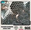 Caliente de las BS 1387 ERW galvanizado alrededor del tubo con el casquillo plástico