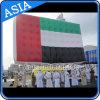 Anunciando o balão inflável da bandeira dos UAE para a seleção política