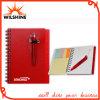 Personnalisé PP Cover Spiral Note Pad avec stylo pour la promotion (PPN223)