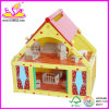 2014 neues Kids Wooden Doll House Toy, Sweet Style Mini Wooden Toy Doll House und Hot Sale Colorful Doll House Wholesale Wj276682