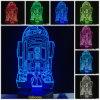 Lámpara de luz nocturna acrílico 3D Christmas estrella regalo Wars R2-D2 R2d2 la decoración del hogar de la lámpara