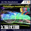 Винил подкраской фары автомобиля хамелеона винила света автомобиля хамелеона снимает пленку светильника автомобиля