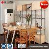 2017 Nuevo diseño ajustable de muebles de acero y madera para comedor