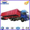 Jushixinの製造の大型トラック3の車軸販売のための側面のひっくり返るダンプのトレーラー