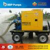 Pompes à eau montées par remorque de contrôle d'inondation de moteur diesel