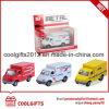 La fricción tire hacia atrás el vehículo 1: 43 Camión ambulancia Diecast coches de juguete