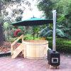 Vasca calda di legno rotondo della STAZIONE TERMALE del cedro del migliore venditore per il commercio all'ingrosso