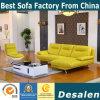 Rotes echtes Leder-Sofa in den Wohnzimmer-Möbeln (612)