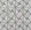 Mosaico di pietra di marmo grigio delle mattonelle di mosaico del triangolo