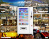 50 Touch Screen 6 Plateaux, 8 Cargo Roads Vending Machine Support Video Play
